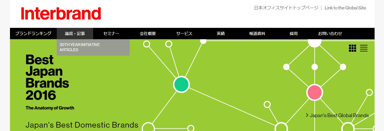 ドメスティック日本企業ブランドランキング